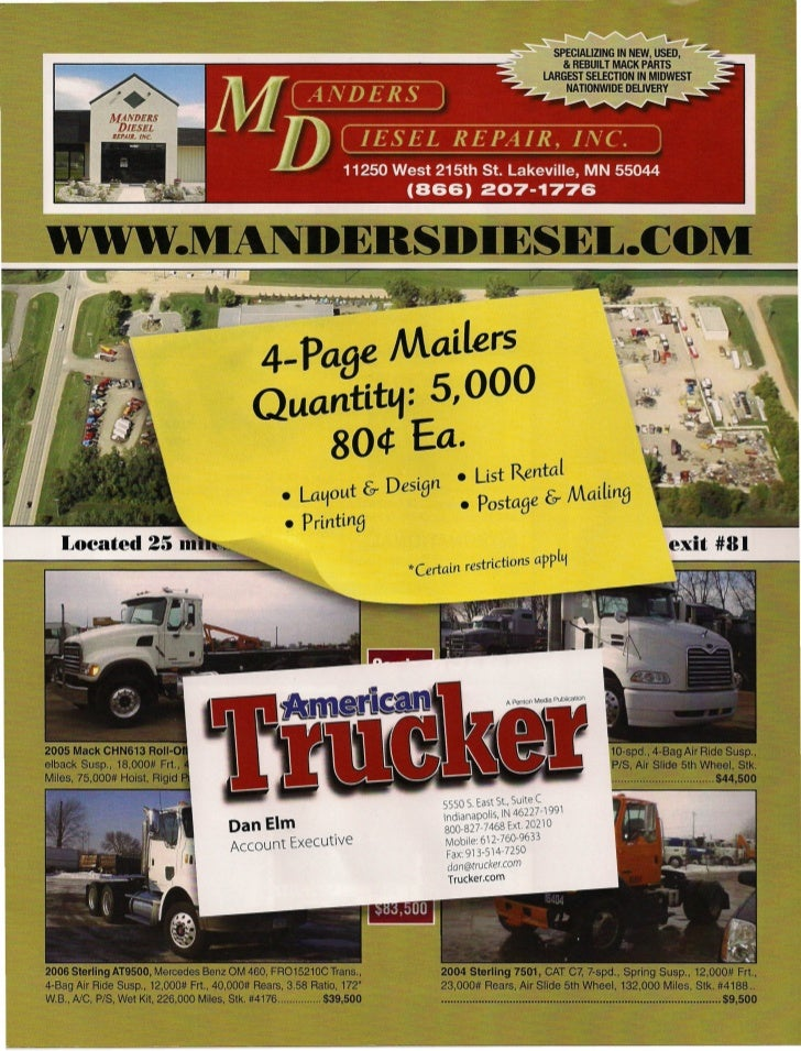 Direct mail  4 pg mailer
