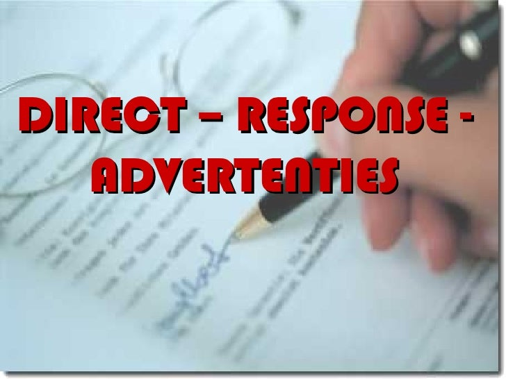 DIRECT – RESPONSE - ADVERTENTIES