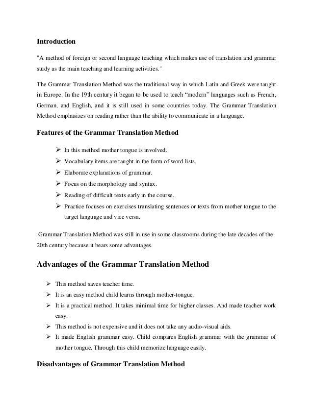 DIRECT METHOD VS GRAMMAR TRANSLATION