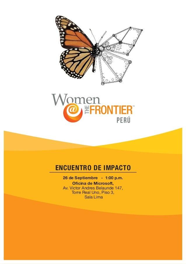 26 de Septiembre - 1:00 p.m. Oficina de Microsoft, Av. Victor Andres Belaunde 147, Torre Real Uno, Piso 3, Sala Lima ENCUE...