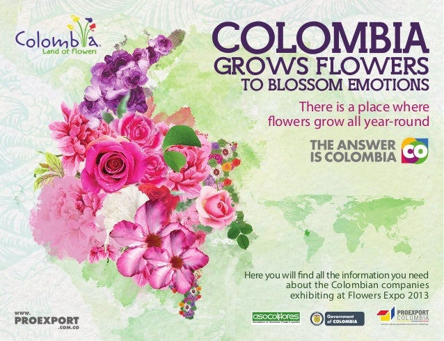 Here you will find all the information you need about the Colombian companies exhibiting at Flowers Expo 2013 Association ...