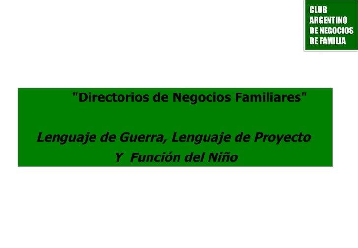 Directorio de la empresa Familiar