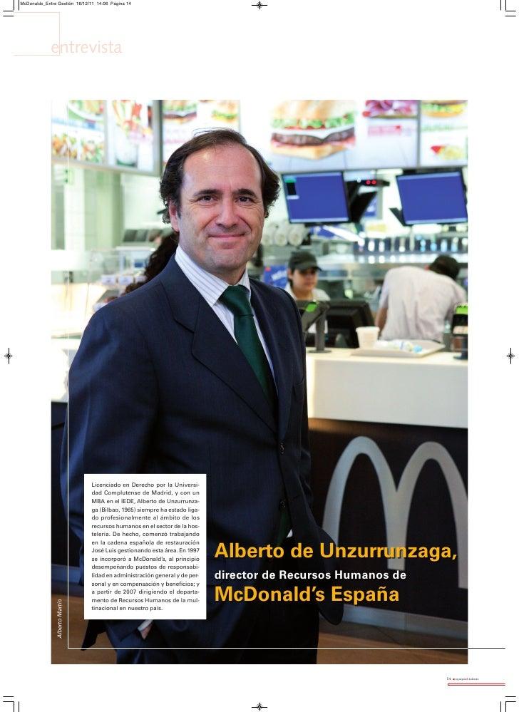 Director RRHH McDonald's