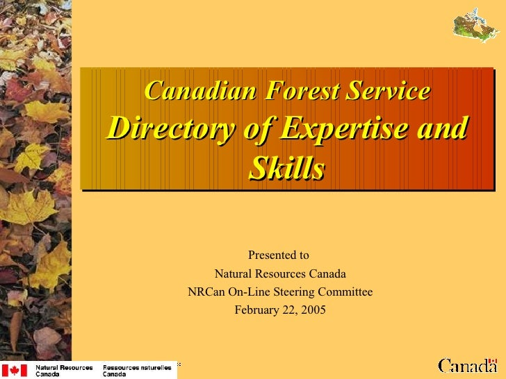 Directory of Expertise and Skills