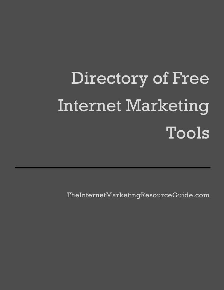 Directory Of Free Internet Marketing Tools And Resources