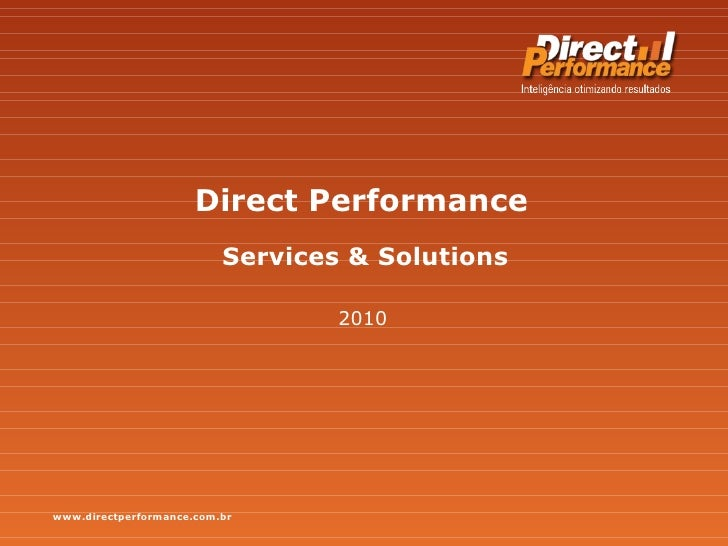 Direct Performance 2010 Services & Solutions