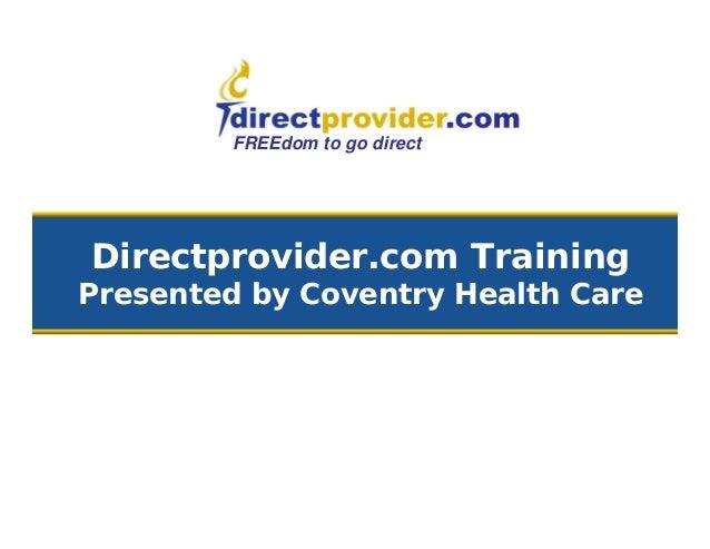 Directprovider.com section 2 11072013