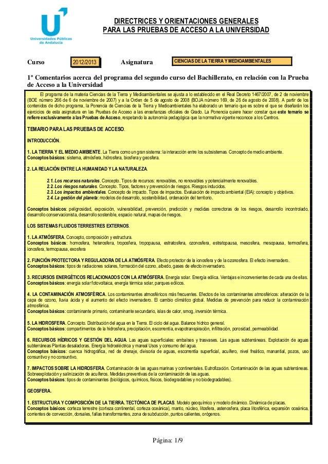 Directrices y orientaciones_ciencias_de_la_tierra_y_medioambientales_2012_2013