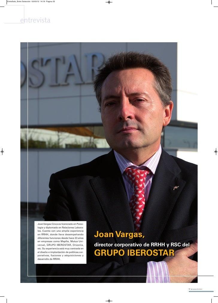 EntreSele_Entre Selección 02/03/12 14:19 Página 52             entrevista                               Joan Vargas Cinca ...