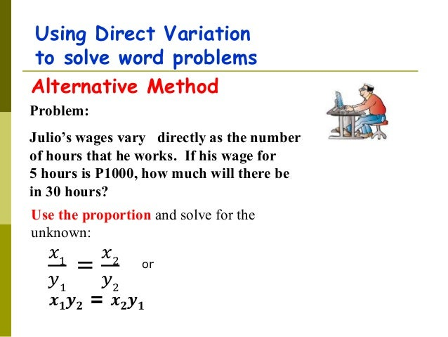 Direct and inverse variation word problems worksheet with answers pdf