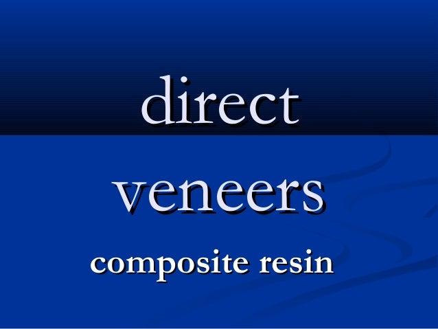 direct veneers composite resin