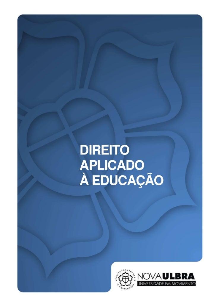 DIREITOAPLICADOÀ EDUCAÇÃO