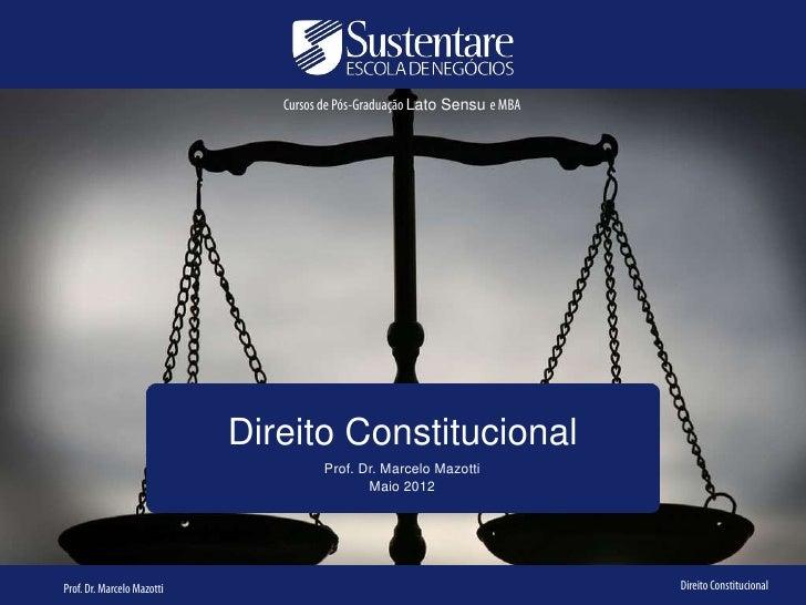 Cursos de Pós-Graduação Lato Sensu e MBA                            Direito Constitucional                                ...