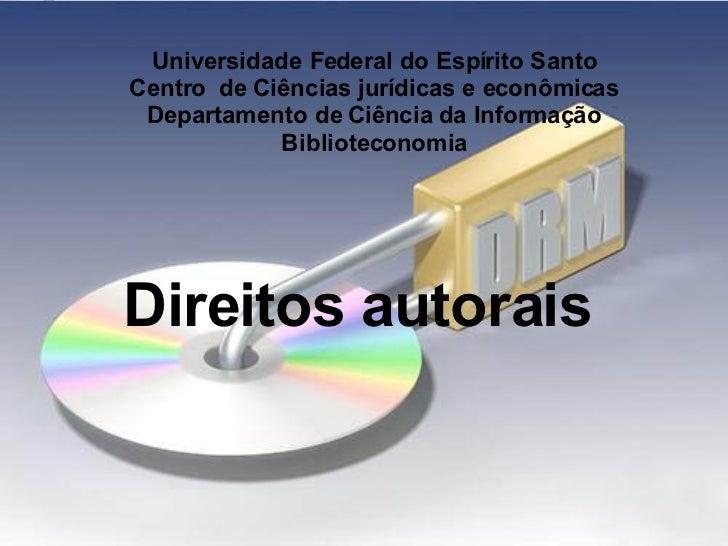 Direitos Autorais e patentes