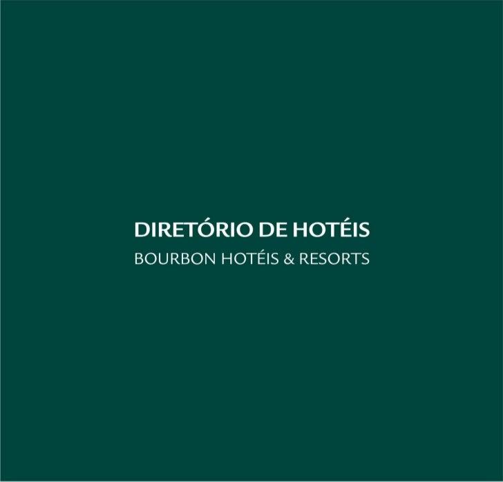 Diretório de hotéis - Bourbon Hotéis & Resorts