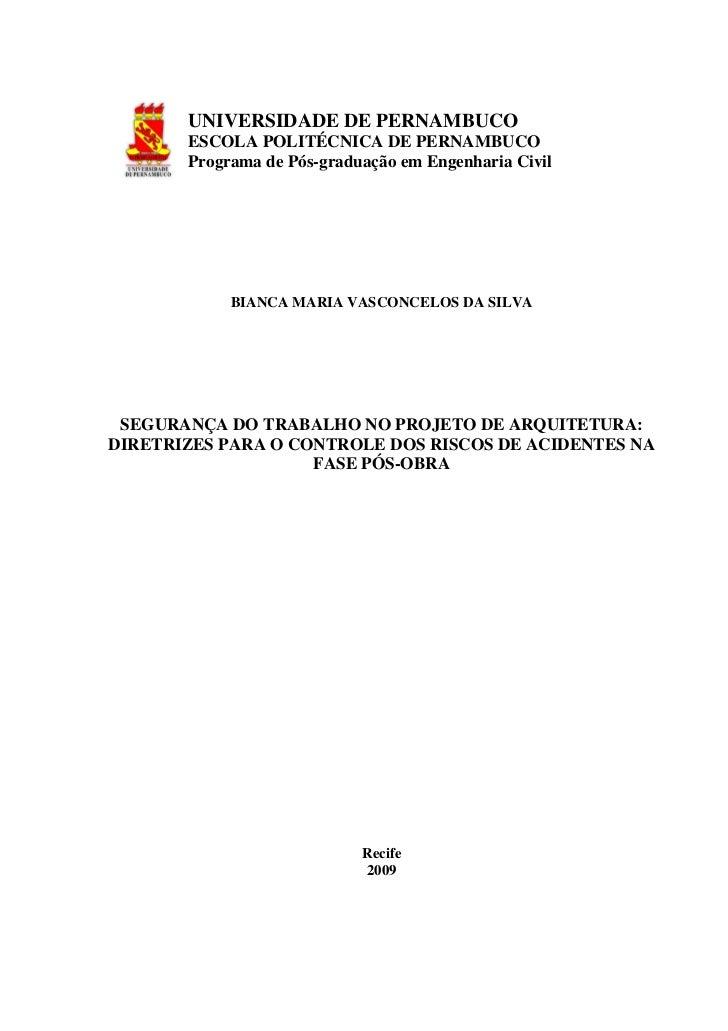 -       UNIVERSIDADE DE PERNAMBUCO       ESCOLA POLITÉCNICA DE PERNAMBUCO       Programa de Pós-graduação em Engenharia Ci...