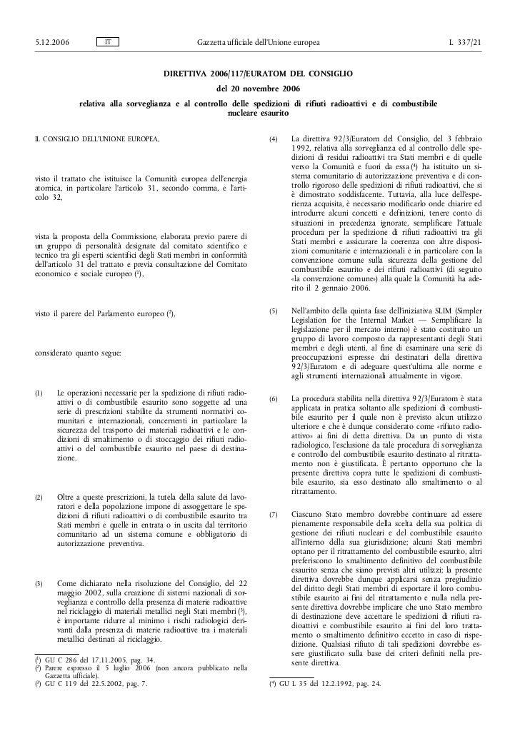 5.12.2006             IT                            Gazzetta ufficiale dell'Unione europea                                ...