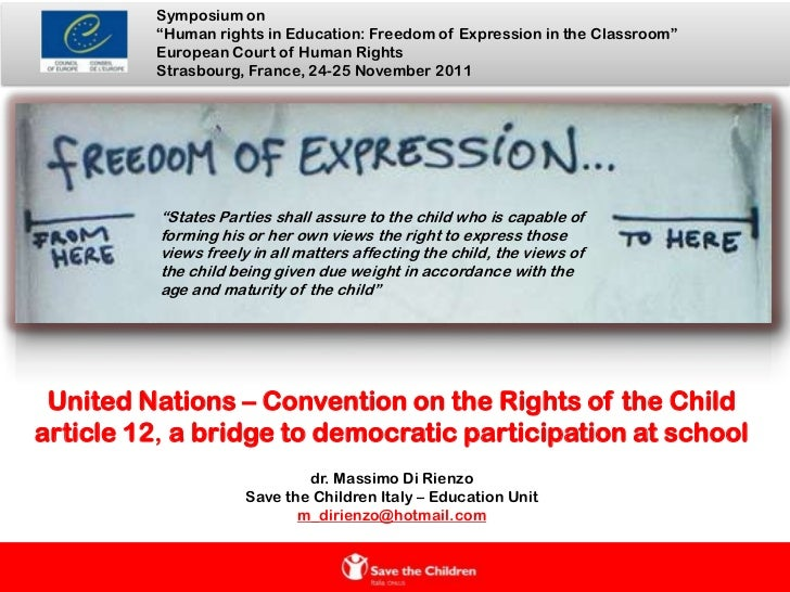 "Symposium on           ""Human rights in Education: Freedom of Expression in the Classroom""           European Court of Hum..."