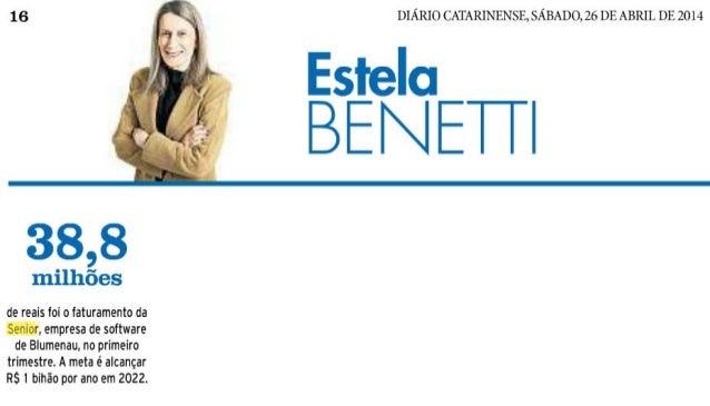 Diário Catarinense | Faturamento da Senior é de R$ 38,8 milhões no primeiro trimestre