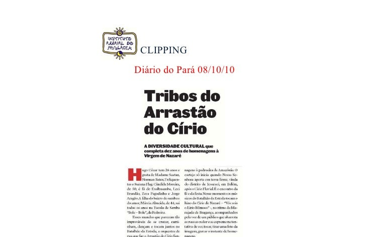CLIPPING Diário do Pará 08/10/10