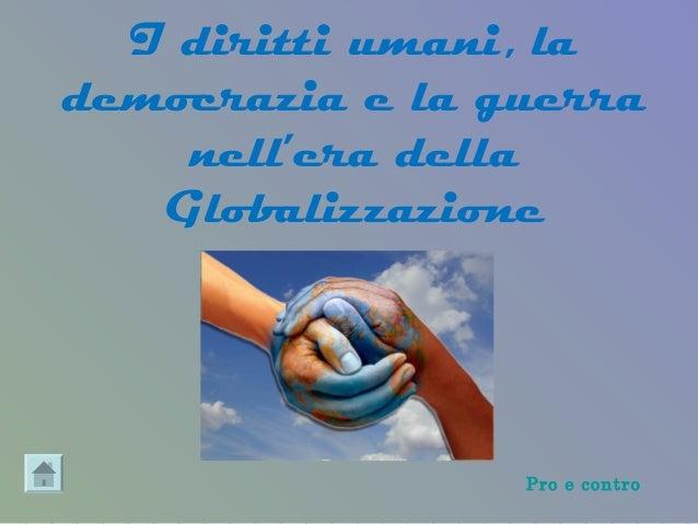 Diritti umani democrazia_guerra_nella_globalizzazione