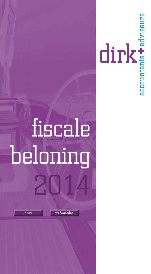 fiscale beloning  2014  index  trefwoorden