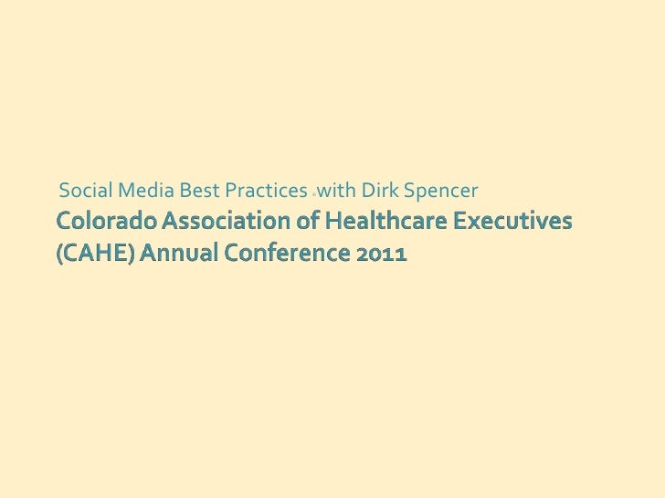 Social Media Best Practices with Dirk Spencer                           ©