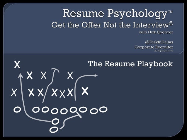 dirk spencer resume psychology the resume playbook