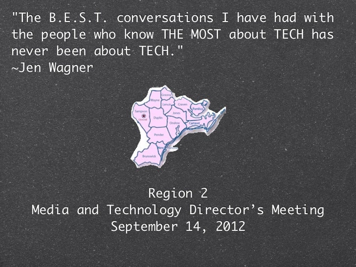 """""""The B.E.S.T. conversations I have had withthe people who know THE MOST about TECH hasnever been about TECH.""""~Jen Wagner  ..."""