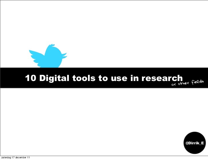 10 digital tools to use in research