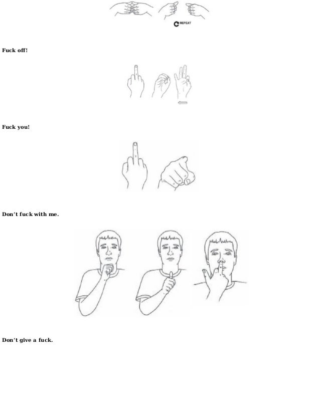 How to say fuck in sign language foto 47
