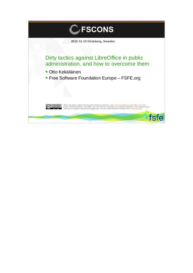 Dirty tactics against LibreOffice in public administration, and how to overcome them