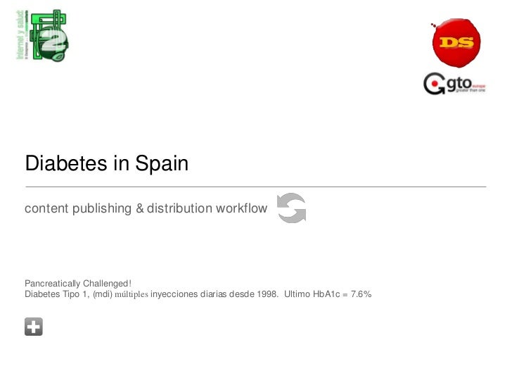 Diabetes in Spain<br />content publishing & distribution workflow  <br />Pancreatically Challenged!Diabetes Tipo 1, (mdi) ...