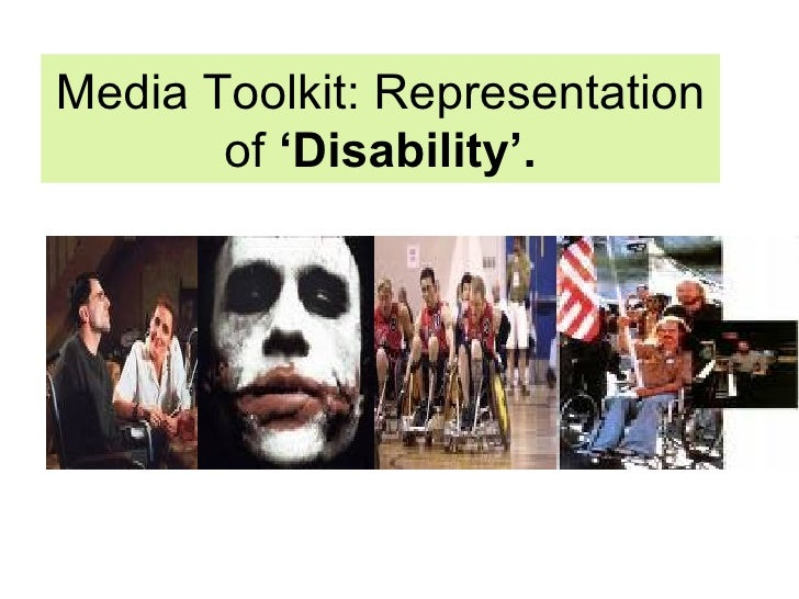 Media Toolkit: Representation of  'Disability'.