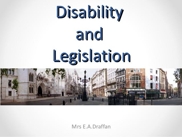 Disability and Legislation