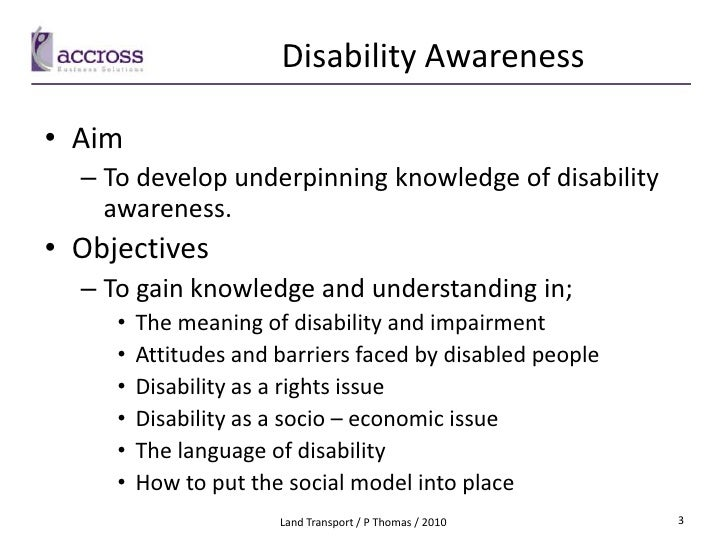 disability awareness paper This paper [written for a class on multiculturalism taught at loyola university chicago by fr w krolikowski and dr t wren in the spring of 1998] was developed on the basis of a critical examination of literature on disability and culture, as it was presented by benedict ingstad and susan reynolds whyte (1995) in their book disability and culture.
