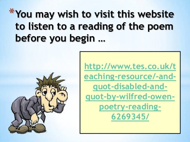 disabled by wilfred owen 2 essay