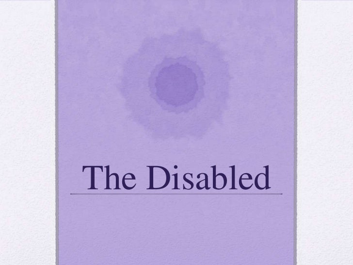 Disabled pp