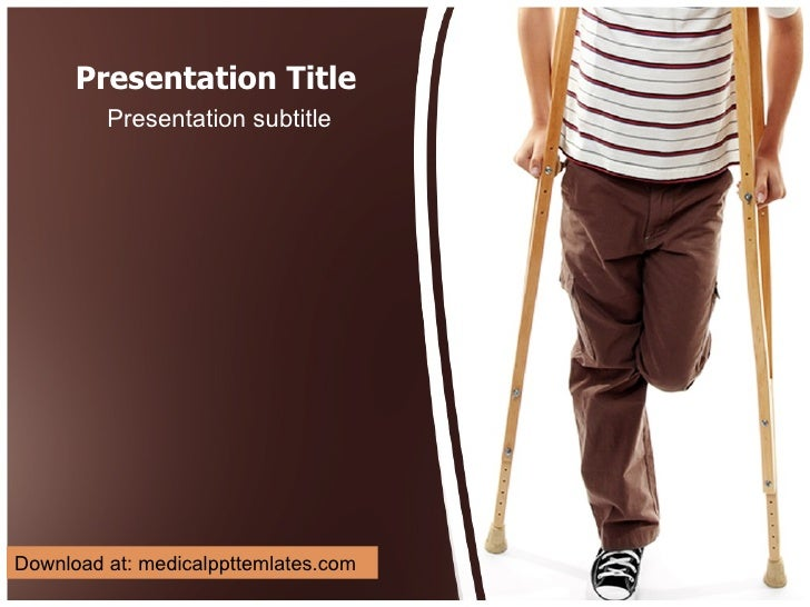 Disable Person Powerpoint Template