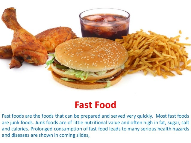 fast food is bad for your health essay Essays from bookrags provide great ideas for fast food fast food essay the energy obtained from fast food is little and fast food is bad for people's health.