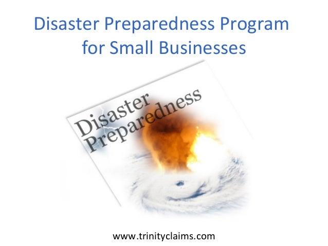 Disaster Preparedness Program for Small Businesses