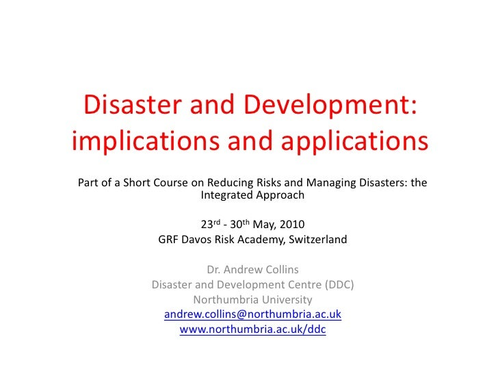 Disaster and development training at grf