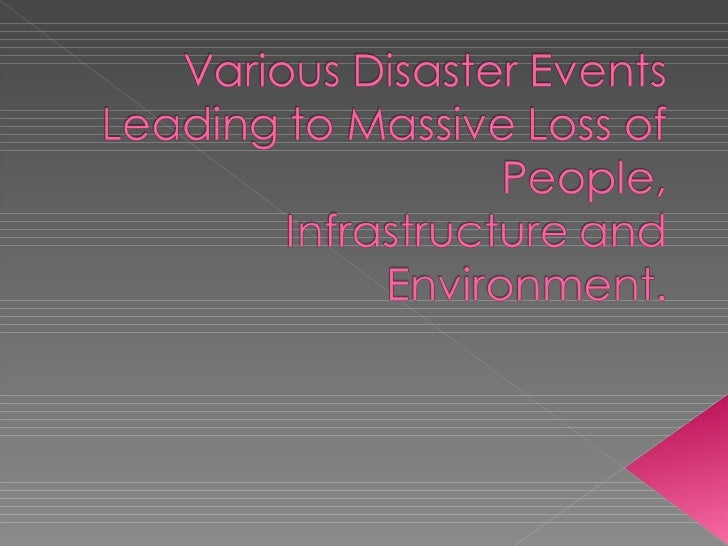 Disaster events  p.p