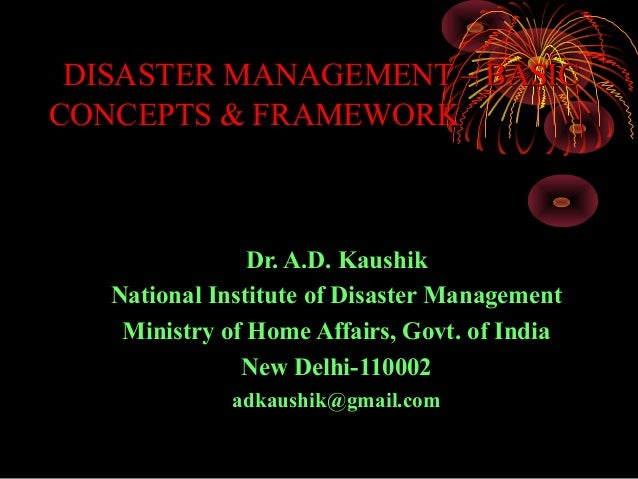 Disaster management basic concepts