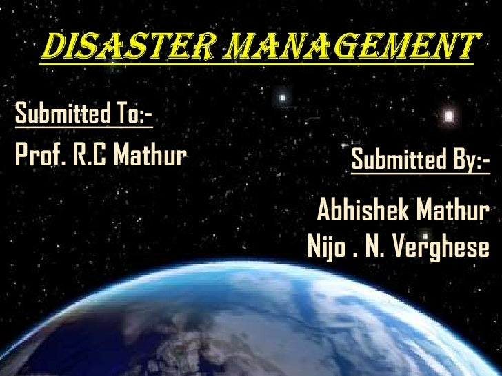 Disaster Management1