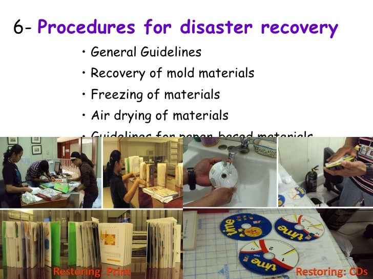 disaster recovery planning procedures and guidelines