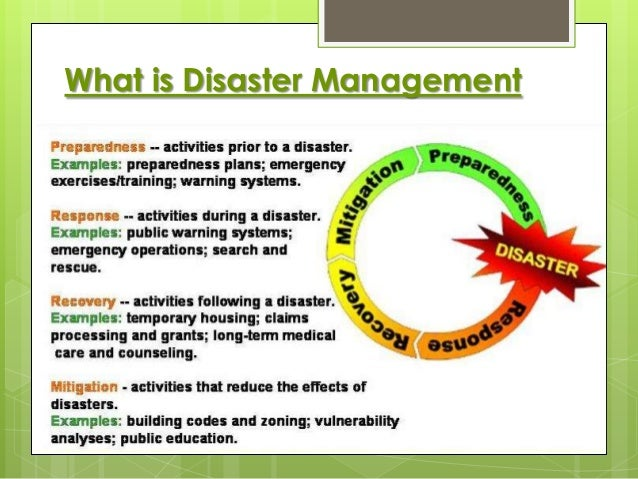 disaster risk reduction and management equip essay