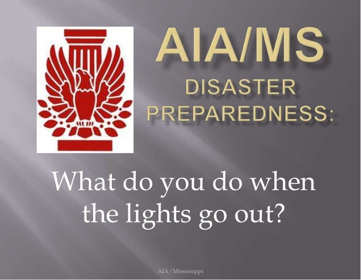 Disaster prepardedness