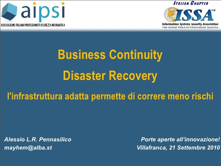 Porte aperte alla tecnologia: Creare una strategia di Disaster Recovery
