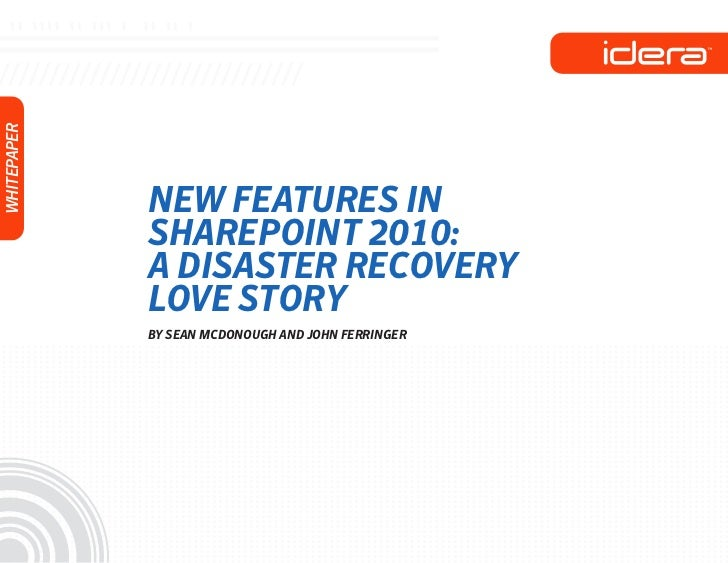 Disaster Recovery Love Story Whitepaper